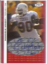 rodrique wright rookie rc auto autograph college texas longhorns #/50 2006