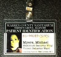 Halloween Movie ID Badge-Michael Myers Warren County Sanitarium costume cosplay
