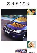 1999 Opel Zafira Original Dutch Sales Brochure
