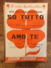 """SPARTITO EDWARDS """"SO TUTTO"""" ADAMS """"AMO TE"""""""