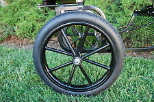 """Pair Horse Cart Motorcycle Tire and Rim 2.50""""-16"""", 5/8"""" or 3/4"""" Axle - NIB"""
