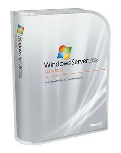 Microsoft Windows Server 2008 Standard Retail 32 & 64 bit 5 CAL New sealed