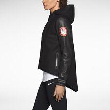 Nike Women's Olympic Wool LEATHER Women's Cape Jacket M MEDIUM USA USOC 582837