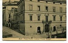 1934 Eboli Piazza Pendino e palazzo Principe Strongoli Salerno FP B/N VG ANIM