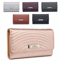 Ladies Quilted Faux Leather Purse Designer Girls Wallet Handbag Boxed M04A-358