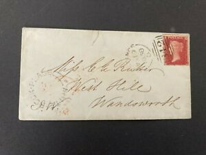 Postal History GB QV Cover from White Rock Hastings 342 to Wandsworth 1858
