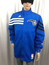 "adidas ORLANDO MAGIC Authentic/Genuine NBA warm up bench jacket men's XL 2"" Long"