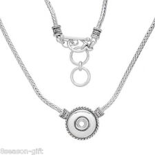 1PC Snap Chain Necklace Fit DIY Snap Button Tripat Toggle Clasp 44.5cm