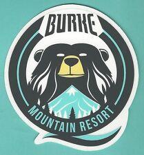 BURKE MOUNTAIN RESORT VERMONT SKI SNOWBOARD AREA STICKER DECAL