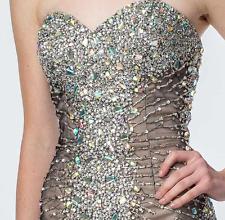 $385 NWT Womens Terani Couture Strapless Mermaid Prom Formal Ballgown Dress  2