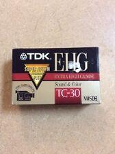 (1) NEW TDK EHG camcorder tape TC-30 VHSC sealed pakage NIP