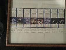 New York Yankees 1987 Uncut Ticket Strip of 8. Ruth Mantle DiMaggio.Leiter Debut