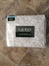 NEW Ralph Lauren Gray White Floral FULL Sheet Set Xtra Deep NWT