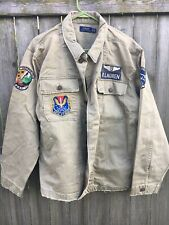 Ralph Lauren POLO Utility Jacket Military Blazer M65 Coat Skull Army Denim XL