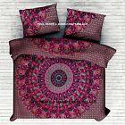 Indian Urban Mandala Duvet Doona cover Bohemian Queen Size Quilt with Pillow Set