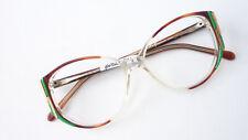 Damen Brille 70er Jahre Boho occhiali Kunststoff Gestell große Gläser neu size M