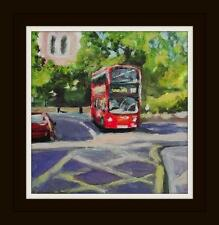 London Street Study 4: Original Impressionist Acrylic Oil Painting Paul Mitchell