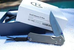 *LOOK* Chris Reeve Small Sebenza 31 S35VN Knife w/ Lanyard - Perfect Condition!
