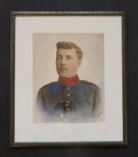Handkoloriertes Soldatenporträt um 1900 * Preußische Uniform * Pieperhoff-Otto