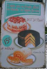 Plaque en tôle IMAGE I Am on a fruits régime NEUF rétro shabby vintage chalet