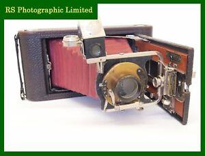 Kodak No 3-A Folding Pocket Camera Model B-3 Red Bellows. Stock No U7759