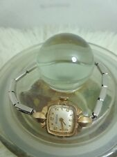Vintage Silver Bulova Stretchy Band Ladies Watch