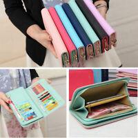Fashion Women Leather Bifold Wallet Clutch Card Holders Purse Lady Long Handbag