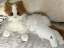 "2008 Hasbro FurReal Friends Katze Lulu My cuddlin ""Kitty weiß orange-Electronic"