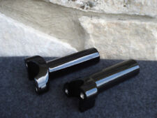"BLACK FORGED 4.5"" STRAIGHT HANDLE BAR RISERS FOR HARLEY"
