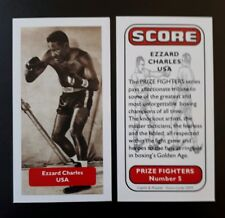 Boxeo-USA-Ezzard Charles-score Premio luchadores UK Trade card