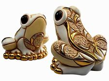 More details for de rosa white frog figurine new in gift box