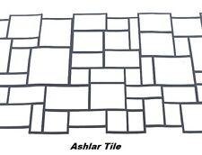 100 sqft Ashlar Tile Stone Concrete Driveway Stencils for Patios, Decks, more!