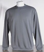 NWT Pebble Beach Performance Golf Long Sleeve Shirt Men's MEDIUM Grey CC2019 NEW