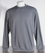 NWT Pebble Beach Performance Golf Long Sleeve Shirt Men's MEDIUM Grey CC2019 NEW