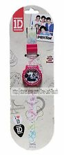 ONE DIRECTION* Digital Plastic LCD WATCH with STONES White+Pink+Rhinestones 1D