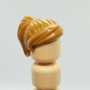 USED LEGO | Minifigure Hair - Medium Nougat Ponytail w/ Swept Sideways Fringe