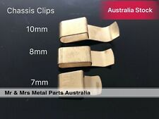 Chassis Clips 7mm Brass Plated Spring Steel for Cable/Loomtube/Pipes 10 pieces