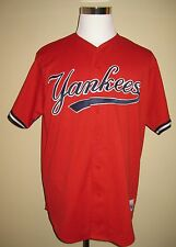 Vintage Red New York Yankees Majestic Jersey Stitched XL USA Extra Large