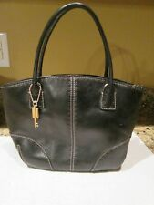 Fossil Black Leather Double Handle