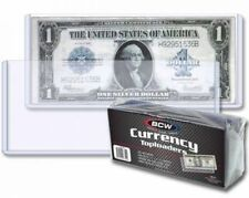 50 RIGID Currency Banknote Holder Toploader 6.5 x 3 BCW Case Regular Size Modern