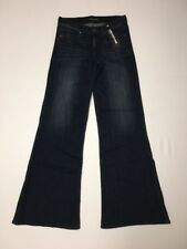 Express Jeans Wide Leg Flare Womens Size 4 Reg Inseam 34 Mid Rise NWT