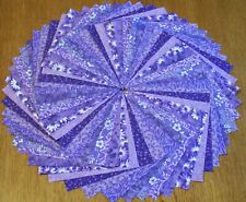 "54 Purple Calico Fabric 5"" Quilting Squares 100% Cotton Charm pack bundle"