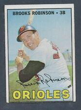 1967 Topps Baseball Card #600 Brooks Robinson EX - off center Tough High Number