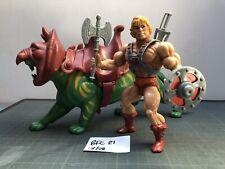 Heman & Battlecat Amos del Universo. Vintage He-man Amos del universo Completo BFC21 en muy buena condición
