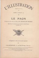La petite illustration Théâtre - Le paon par Francis de Croisset - 1904