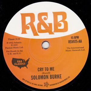 "SOLOMON BURKE - Cry To Me 7"" 45"