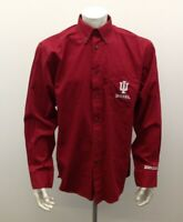 Three Square Red Large Indiana University Hoosiers Long Sleeve Men's  Shirt