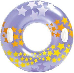 Intex Schwimmring Schwimmreifen Schwimmen Stargaze Wasser 2 Griffe 91cm Lila