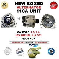 FOR VW POLO 1.0 1.4 16V BIFUEL 1.8 GTi 1998-ON BRAND NEW 110A ALTERNATOR UNIT