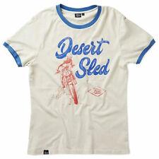 Fuel Desert Sled Moto Motorcycle Bike Casual T-Shirt White / Blue
